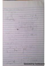 Law of Cosines and Sines Class Notes