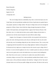 Comparative Analysis essay final