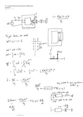 32 - Coupled mechanical and electrical differential equations