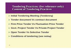 what is selective tendering