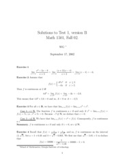 Solutions Test 1B