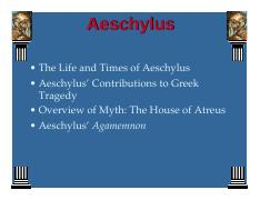 Agamemnon By Aeschylus Pdf