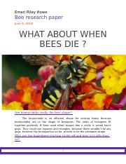 WHAT ABOUT WHEN BEES DIE -.docx