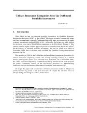 (2007) China's Insurance Companies Step Up Outbound Portfolio Investment.pdf