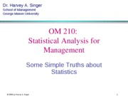 Section 1 Operation Management Statistics