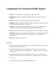 Components of a Formal Scientific Report.docx