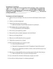 Sample Questions Oral History.docx