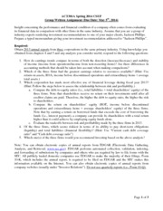 Written Assignment Instructions Spring 2014 section05