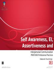 Lecture 3 Self Awareness EI Assertiveness and Communication Styles-1.pptx