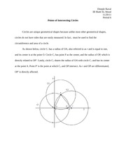 IB Math Year 1 Circle Paper