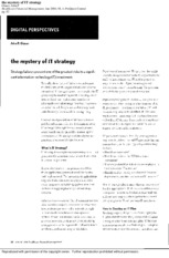 005 The mystery of IT strategy