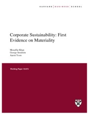 HBS (2015) Corporate Sustainability and SASB Materiality