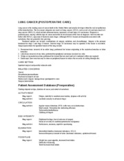 LUNG CANCER_POSTOPERATIVE CARE