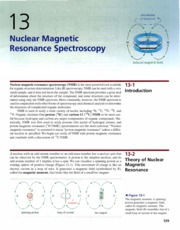 Ch 13 - Nuclear Magnetic Resonance Spectroscopy