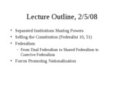 Lecture slides Fall 08 Sept 11 federalism