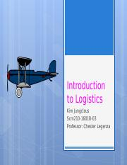 Unit 1 IP 1 Introduction to Logistics