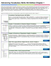 236059893 Advancing Vocabulary Skills 4th Edition Chapter 1 Advancing Vocabulary Skills 4th Edition Chapter 1 Advancing Vocabulary Skills 4th Course Hero