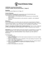 COMM104 Creative Problem Solving Stage 6 Assessment Directions (1).docx