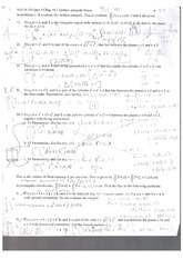 Exam Material Three Dimension Equations