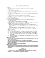 Chapter 4 Notes for Quiz 5 Study Guide