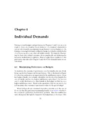 Ch4 Individual Demands