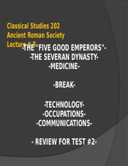 Classical Studies 202 Lecture 8WL