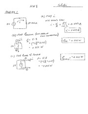 Homework 1 Solution on Electric and Electronic Circuits