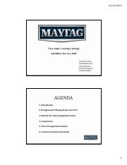 Maytag Week 9 Presentation - Wednesday 9-12 Sydnicate Group