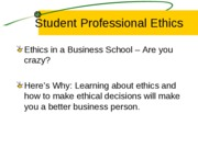 Ethics 1 presentationREVISED