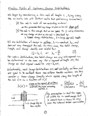 Physics notes  Fields of Linear Charge Distributions