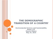 The Demographic Transition of a country