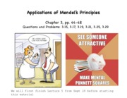 Lecture 6-Application of Mendel's Principles-F'15