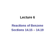 CH 2536 Lecture 06 Aromaticity 14.15 - 14.19