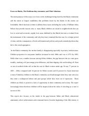 Essay on Black minority in the U.S.docx