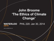 Phil 220 The Ethics of Climate Change