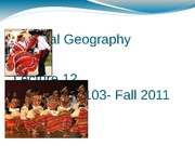 Lecture 12 Cultural Geography Copy