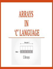5. Arrays in 'C'.pptx