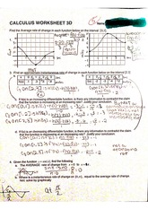 ap calc worksheet 3d