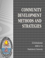 Community Development Methods and StrategIES