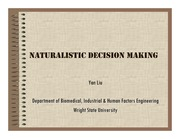 Lecture Notes on Naturalistic Decision Making_I
