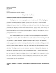 Essay on Hip-Hop in America