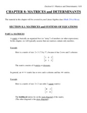 8. matrices and determinants
