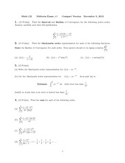 Midterm Exam from previous year Solutions