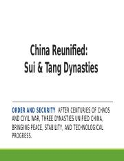 China Reunified- Sui & Tang Dynasties.pptx