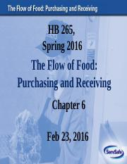 Chapter 6 ppt with blanks_ The Flow of Food (Purchasing and Receiving)_Feb 23