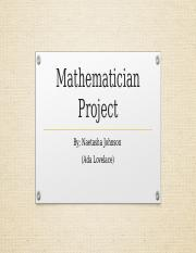 Mathematician Project.pptx