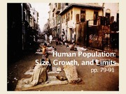 Human Population - Size, Growth, and Limits - Notes