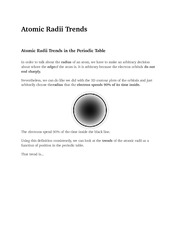 Atomic Radii Trends