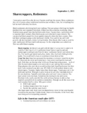 Sharecroppers Notes
