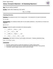 05 Notes - Classifying Reactions I